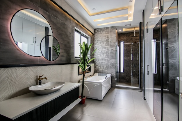Banheiro moderno novo