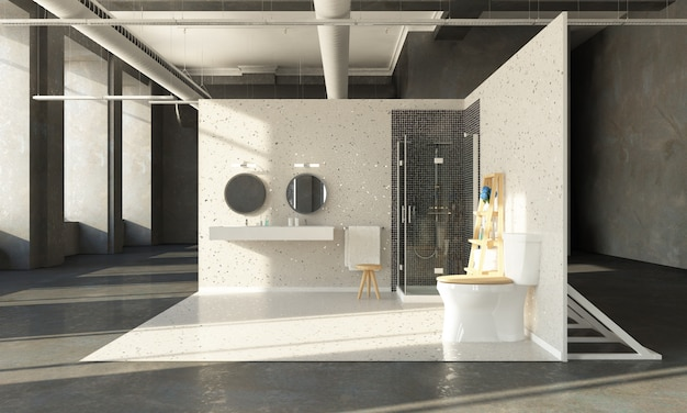 Banheiro no showroom