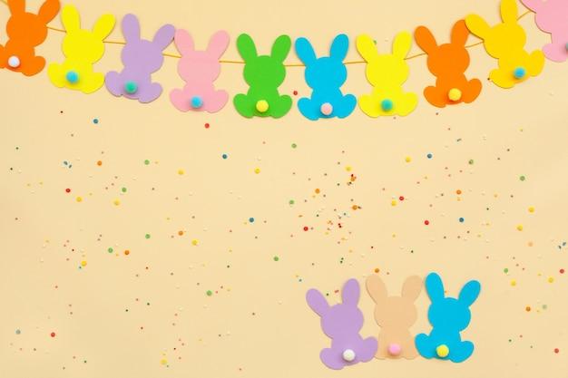 Banner bunny easter garland. chá de bebê com guirlanda de coelho. 1ª festa feliz do dirthday.