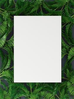 Banner, cartaz com folhas de palmeira