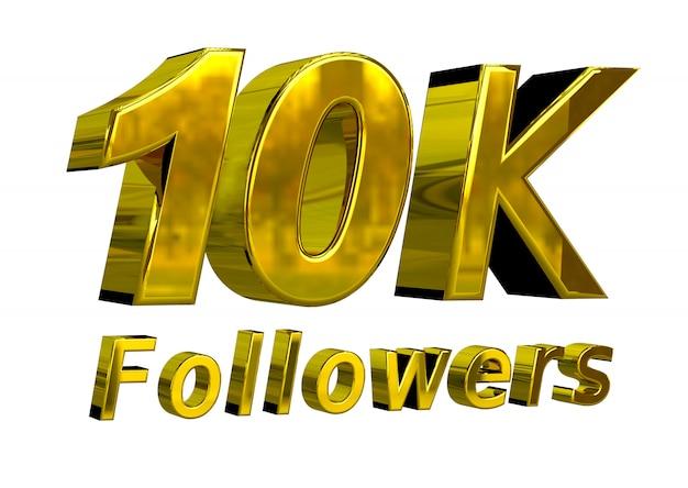 Banner de comemoração de 10k seguidores para uso em mídias sociais