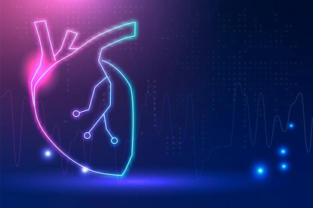 Banner de coração para tecnologia cardíaca