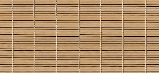 Banner de fundo de textura de esteira de bambu leve asiático