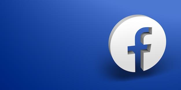 Banner de logotipo branco de mídia social