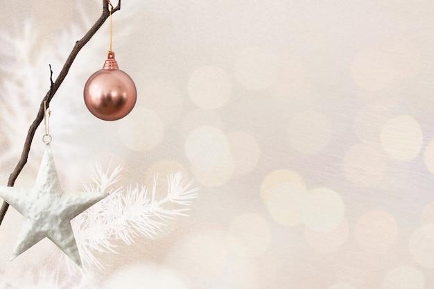 Banner de mídia social de natal com espaço de design