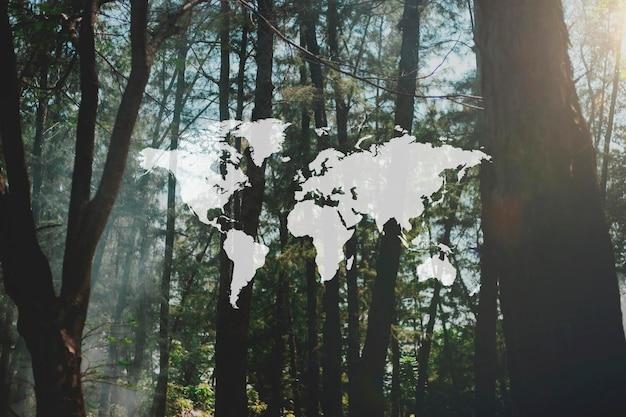 Banner de padrão gráfico de aventura de mapa