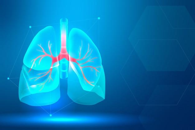 Banner de pulmão para sistema respiratório de saúde inteligente