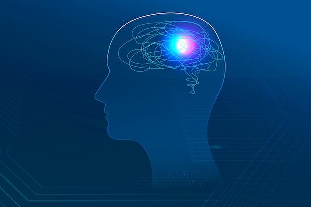 Banner de saúde mental para tecnologia médica