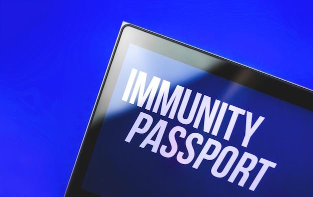 Banner do cabeçalho do passaporte de imunidade, teste covid-19 no mundo, conceito