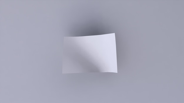 Banner em branco branco sobre fundo branco