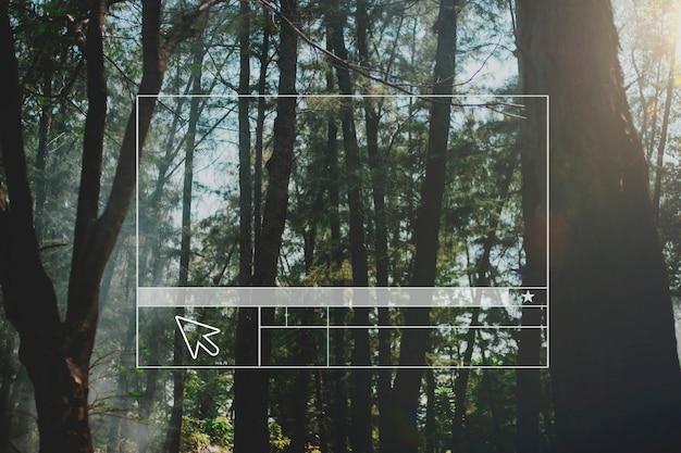 Banner em branco do layout do site da floresta