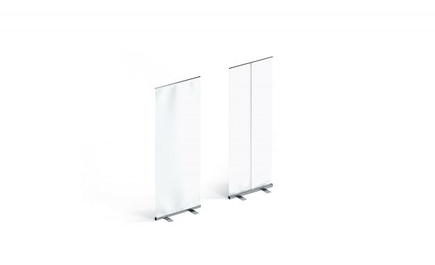 Banners de enrolar branco em branco