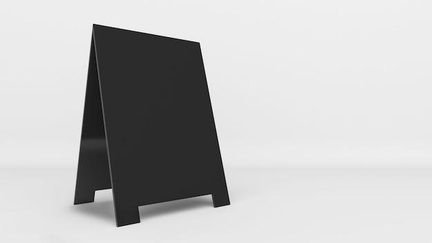 Banners de maquete anunciando um produto ou marca em um fundo preto e branco para publicidade
