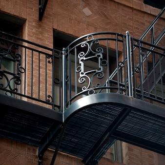 Banniser decorativo em boston, massachusetts, eua