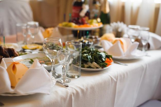 Banquete de casamento em um restaurante, festa em um restaurante