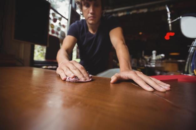Bar concurso limpeza bar balcão