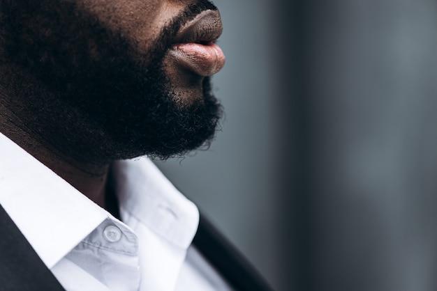 Barba de um empresário afro-americano