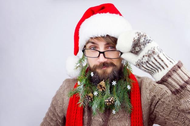 Barba decorada do papai noel