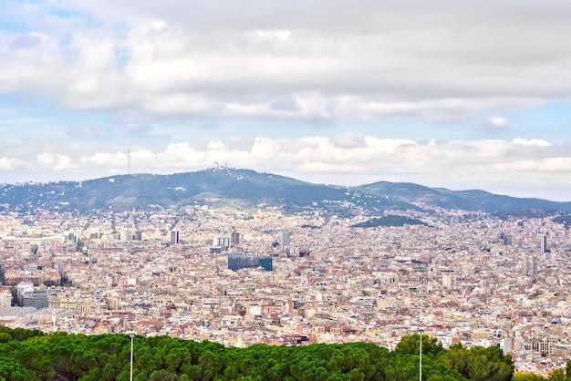 Barcelona cidade da montjuic montanha catalunha espanha