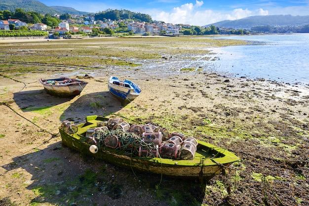 Barco de pesca combarro em pontevedra