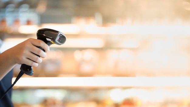 Barcode scanner na mão