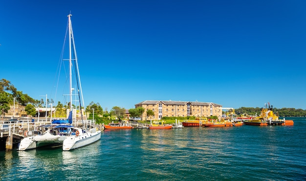 Barcos na autoridade portuária de new south wales em sydney, austrália