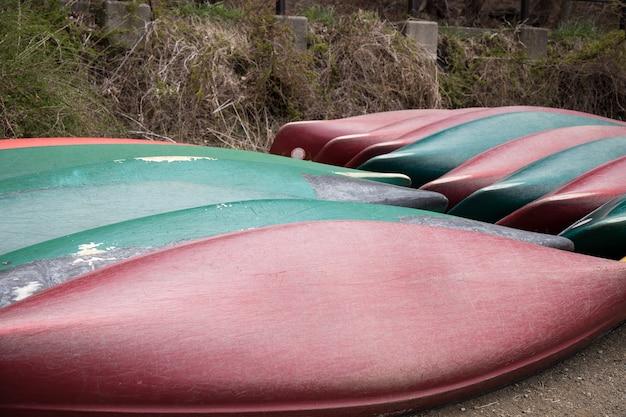 Barcos no lago kawaguchiko