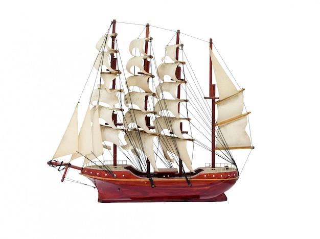 Barque navio presente ofício modelo de madeira