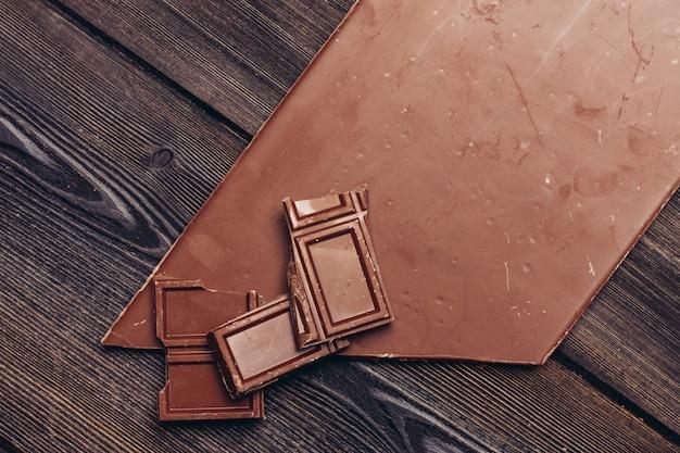 Barra de chocolate espaço