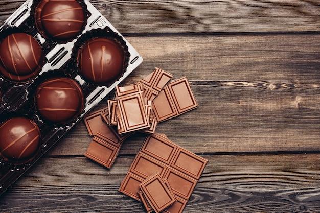 Barra de chocolate fundo