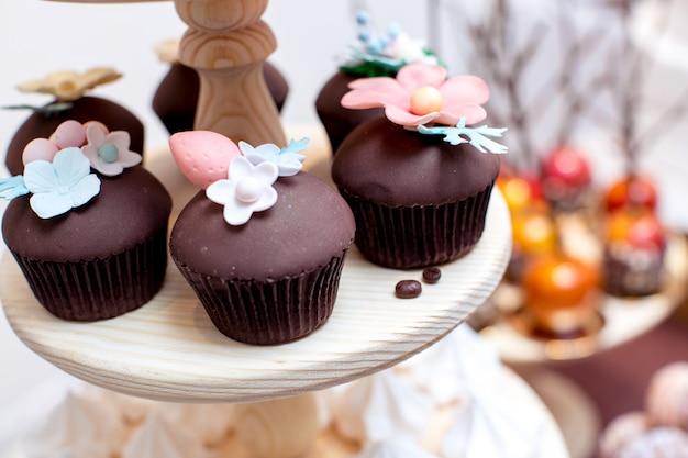 Barra de chocolate na cor marrom