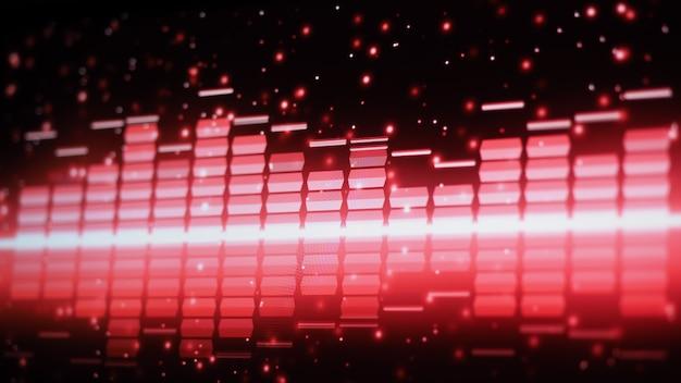 Barra de equalização de música. equalizador de forma de onda de áudio no fundo preto da tela. música ou onda sonora no monitor.