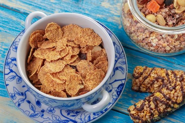 Barra de granola e cereais