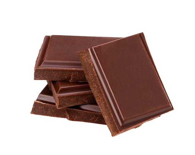 Barras de chocolate escuro