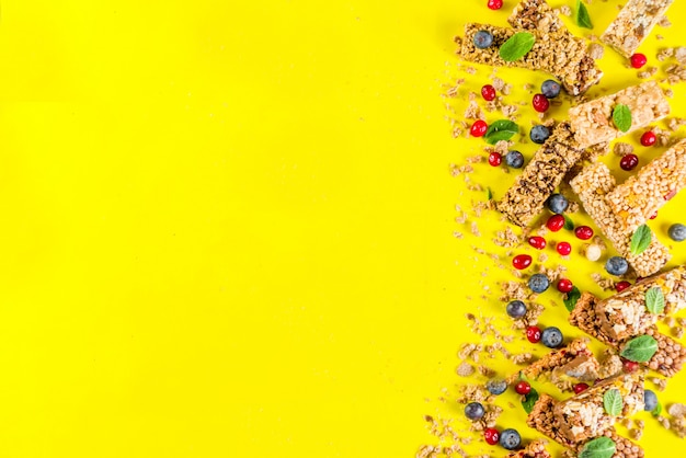 Barras de granola para cereais