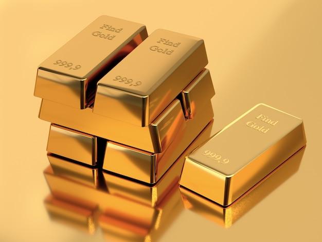 Barras de ouro do banco. conceito de negócios e finanças