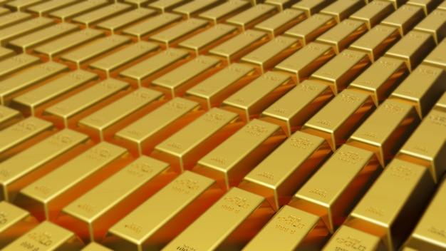 Barras de ouro fundo 3d render