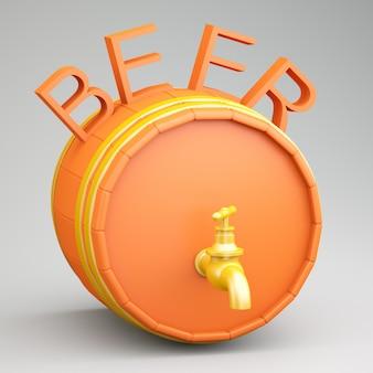 Barril com cerveja
