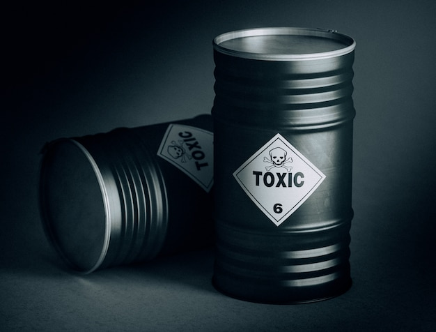 Barril tóxico 3d