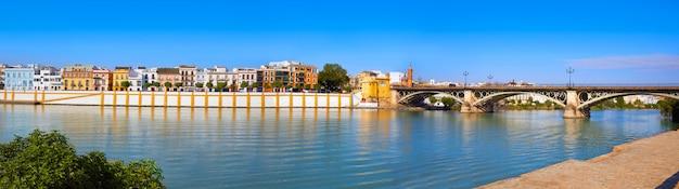 Barrio de triana de sevilha panorâmica andaluzia