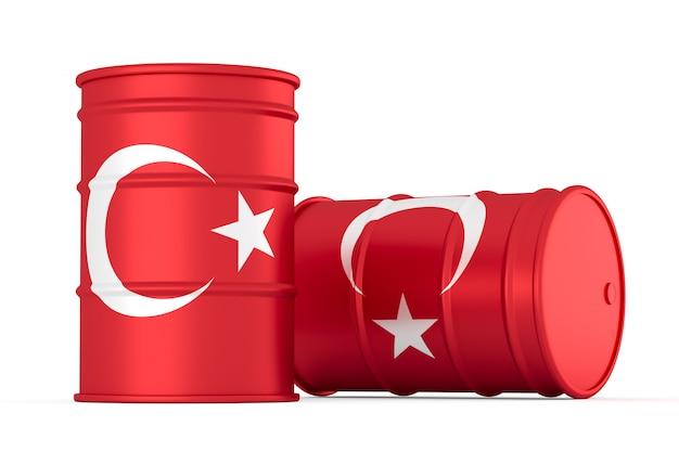 Barris de bandeira com estilo de óleo de turquia isolados