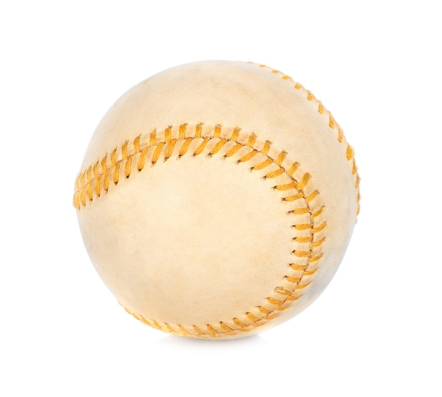 Baseball isolado no fundo branco
