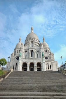 Basílica de sacré-coeur em montmartre em paris, frança