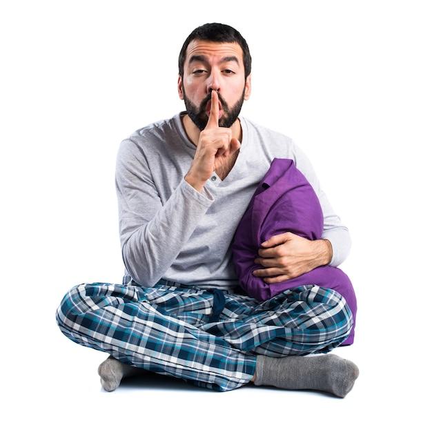 Bastão com pijama barba silencioso