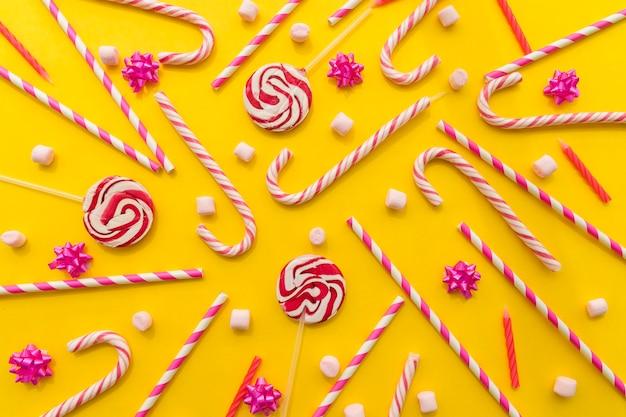 Bastão de bastões de doces