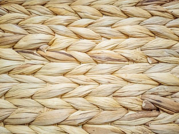 Bastão de vime textura close-up. conceito vintage