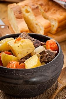 Batata cozida caseira