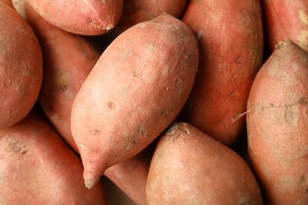Batata-doce em toda a superfície. legumes