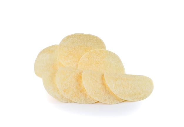 Batata frita isolada
