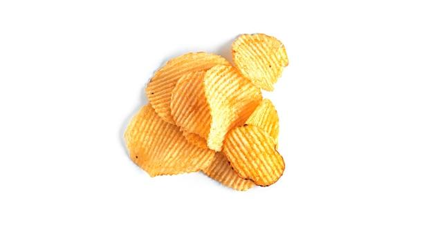 Batata frita no branco